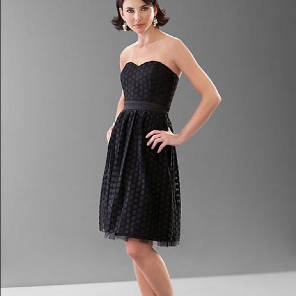 White House Black Market Strapless Black Dress